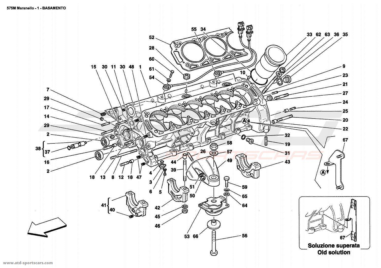 Ferrari 575 Maranello CRANKCASE parts at ATD-Sportscars