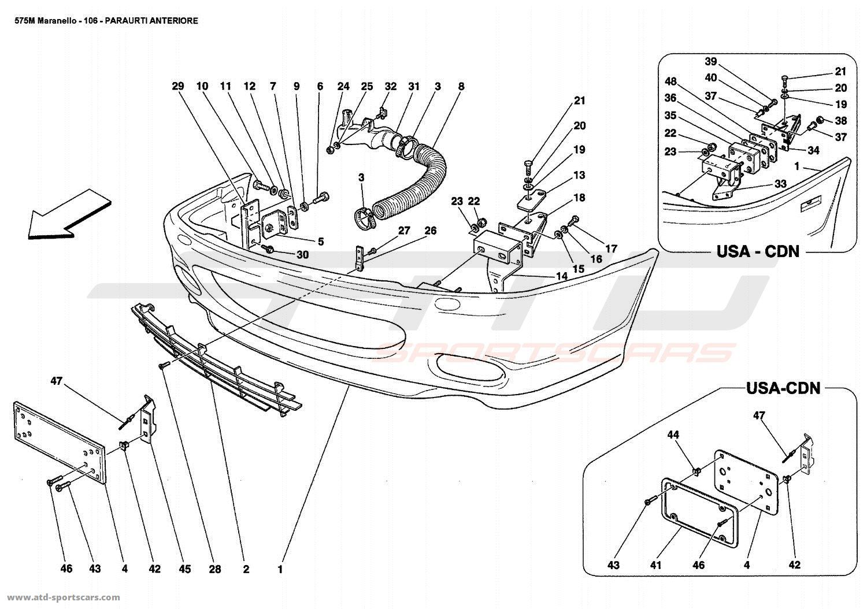 Ferrari 575 Maranello FRONT BUMPER parts at ATD-Sportscars