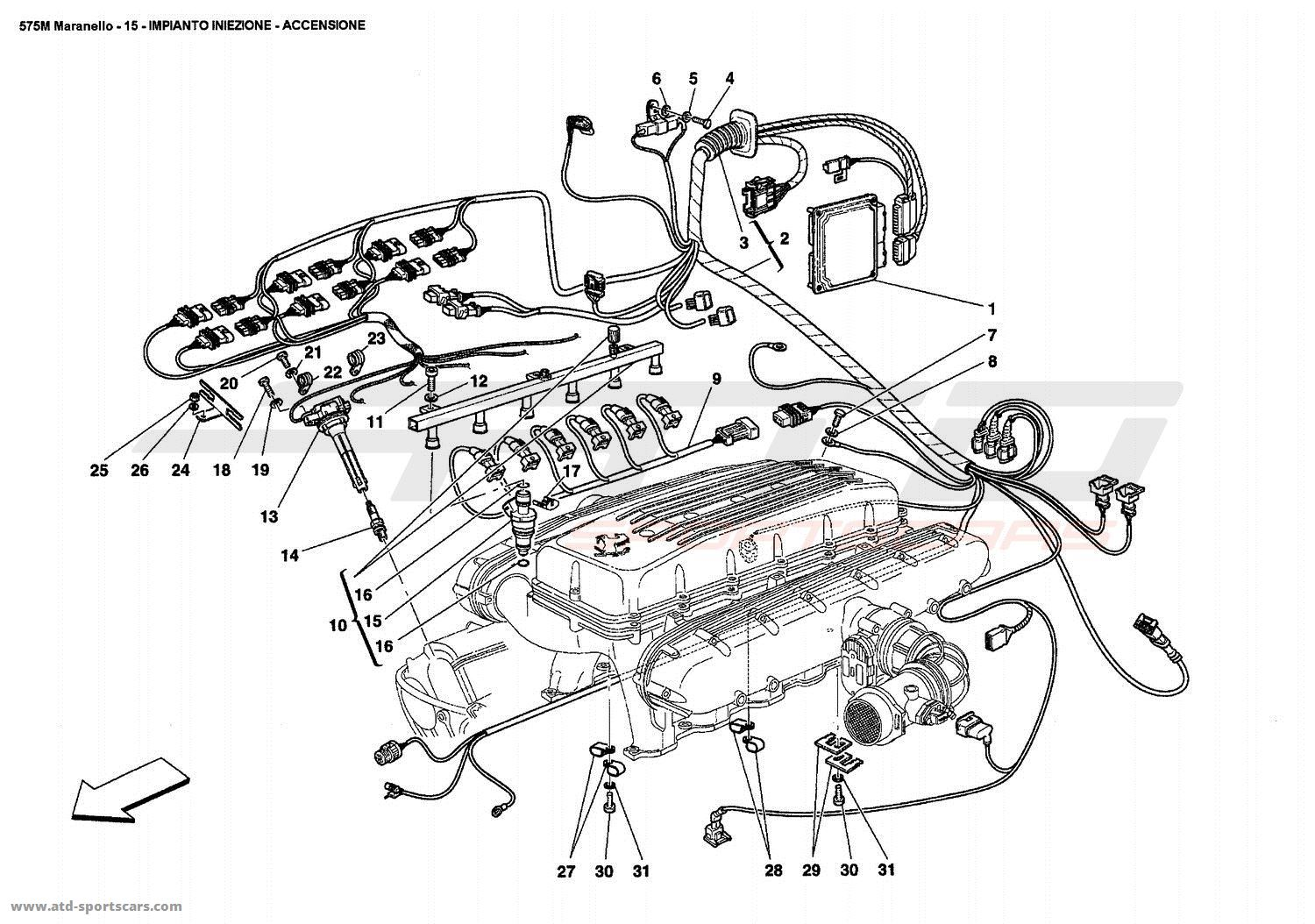 Ferrari 575 Maranello Engine Parts At Atd Sportscars