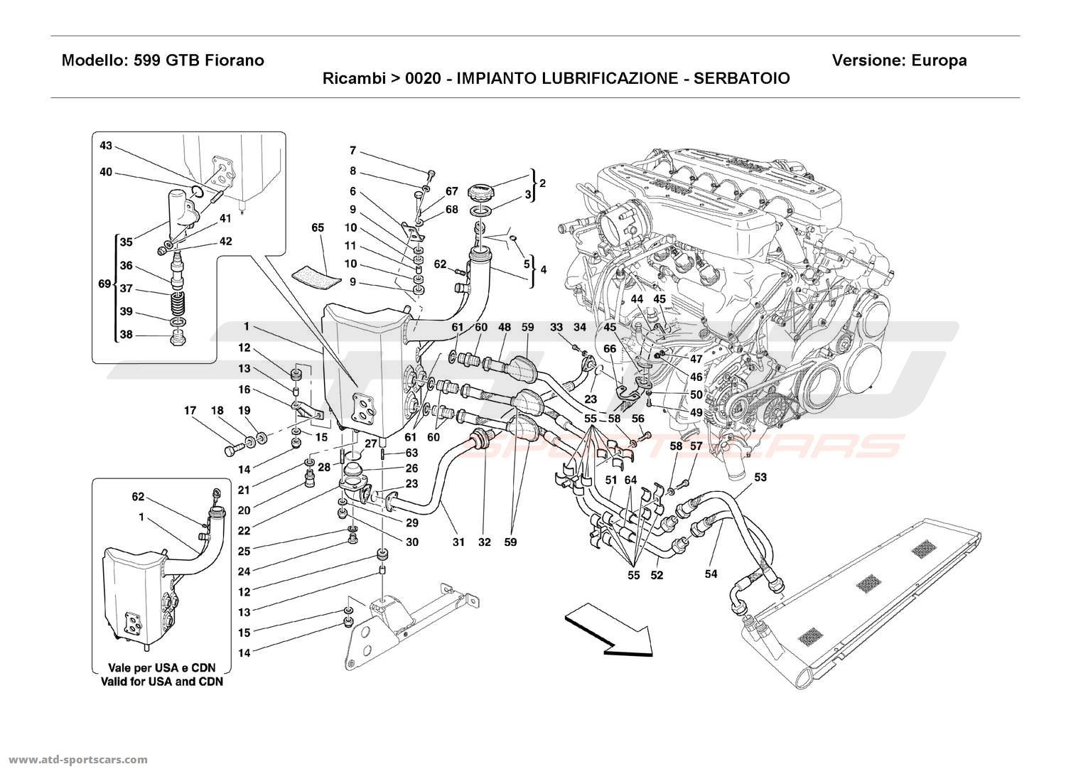 Ferrari 599 GTB Fiorano Engine parts at ATD-Sportscars