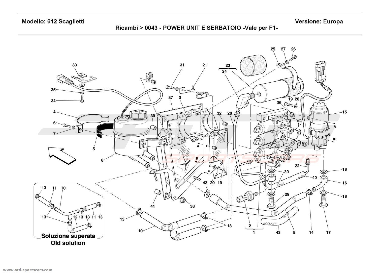 Ferrari 612 Scaglietti POWER UNIT AND TANK parts at ATD