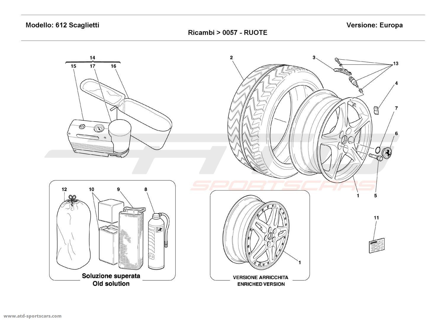 Ferrari 612 Scaglietti WHEELS parts at ATD-Sportscars