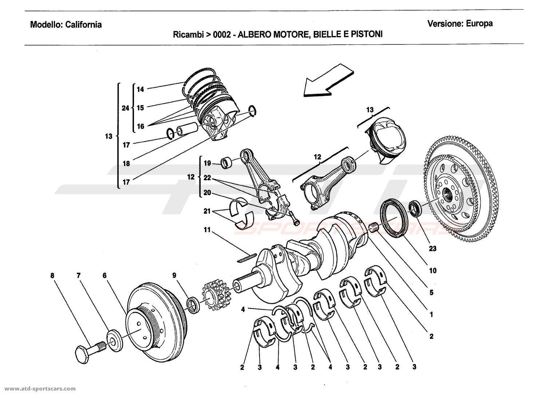 Ferrari California Engine Parts At Atd Sportscars