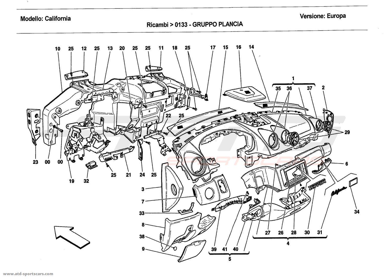 Ferrari California 2011 Interior parts at ATD-Sportscars