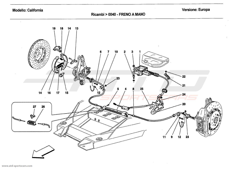 Ferrari California 2011 Brakes parts at ATD-Sportscars