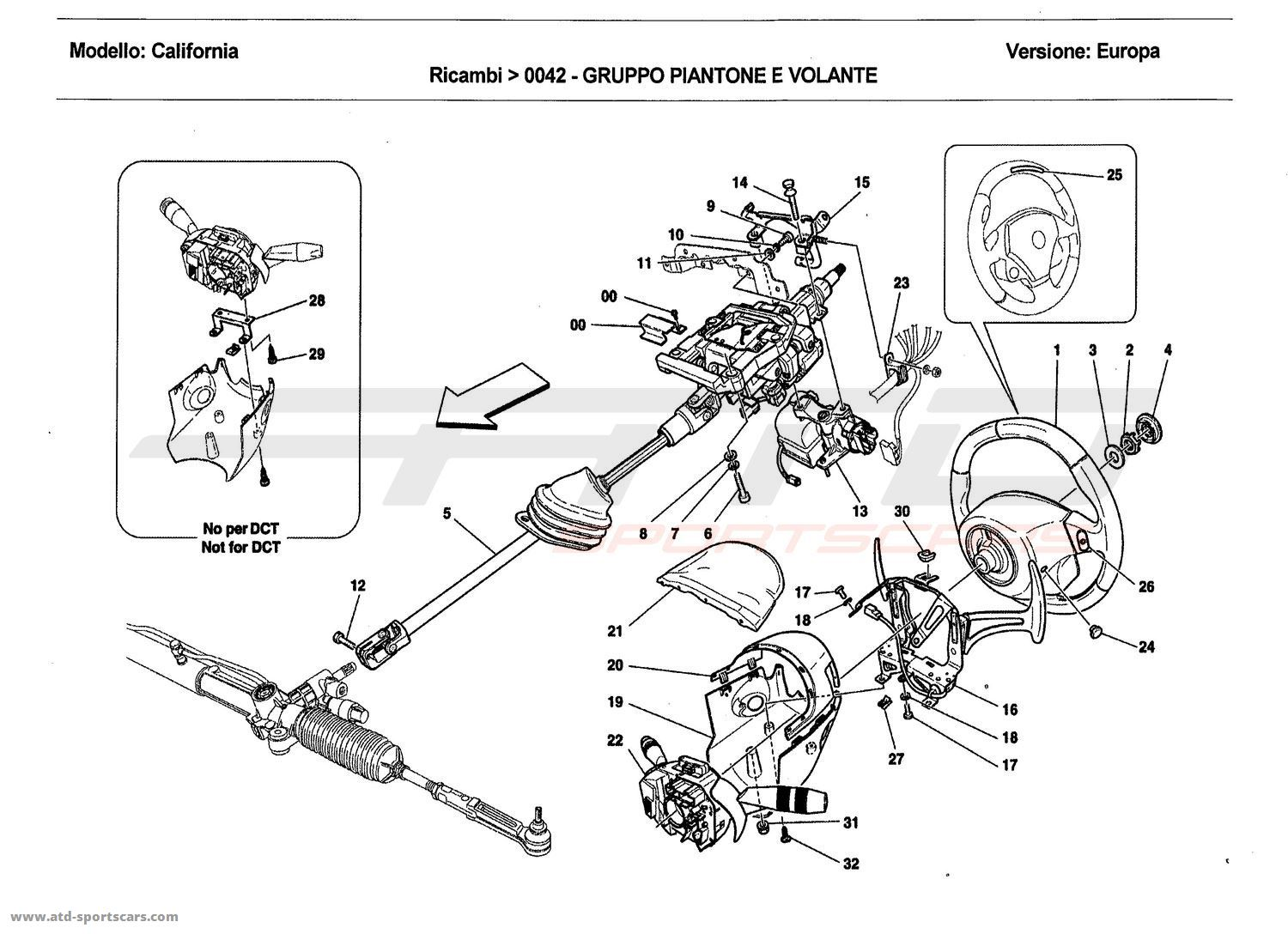 hight resolution of steering column assembly and steering wheel