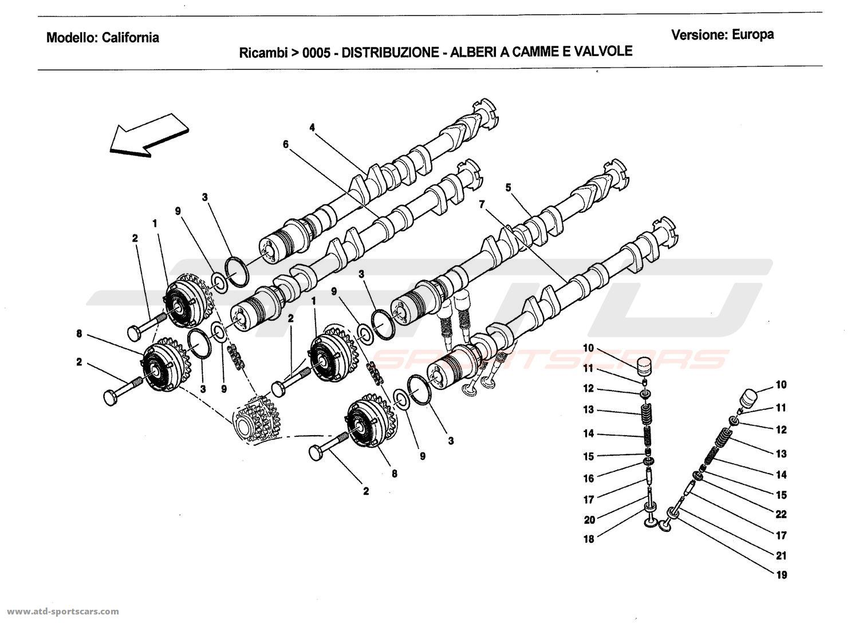 Ferrari California 2011 Engine parts at ATD-Sportscars