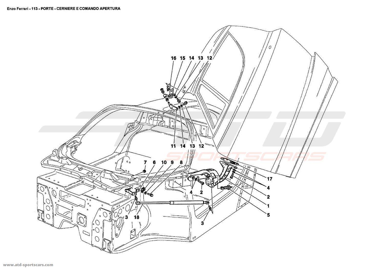 Ferrari Door Hinge & Image Is Loading Ferrari-246-308-Door