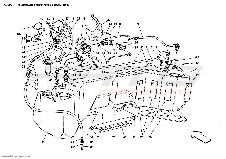 Ferrari Enzo FUEL TANKS AND UNION parts at ATD-Sportscars