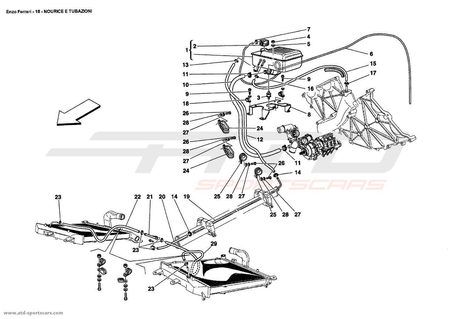 Ferrari Enzo NOURICE AND PIPES parts at ATD-Sportscars