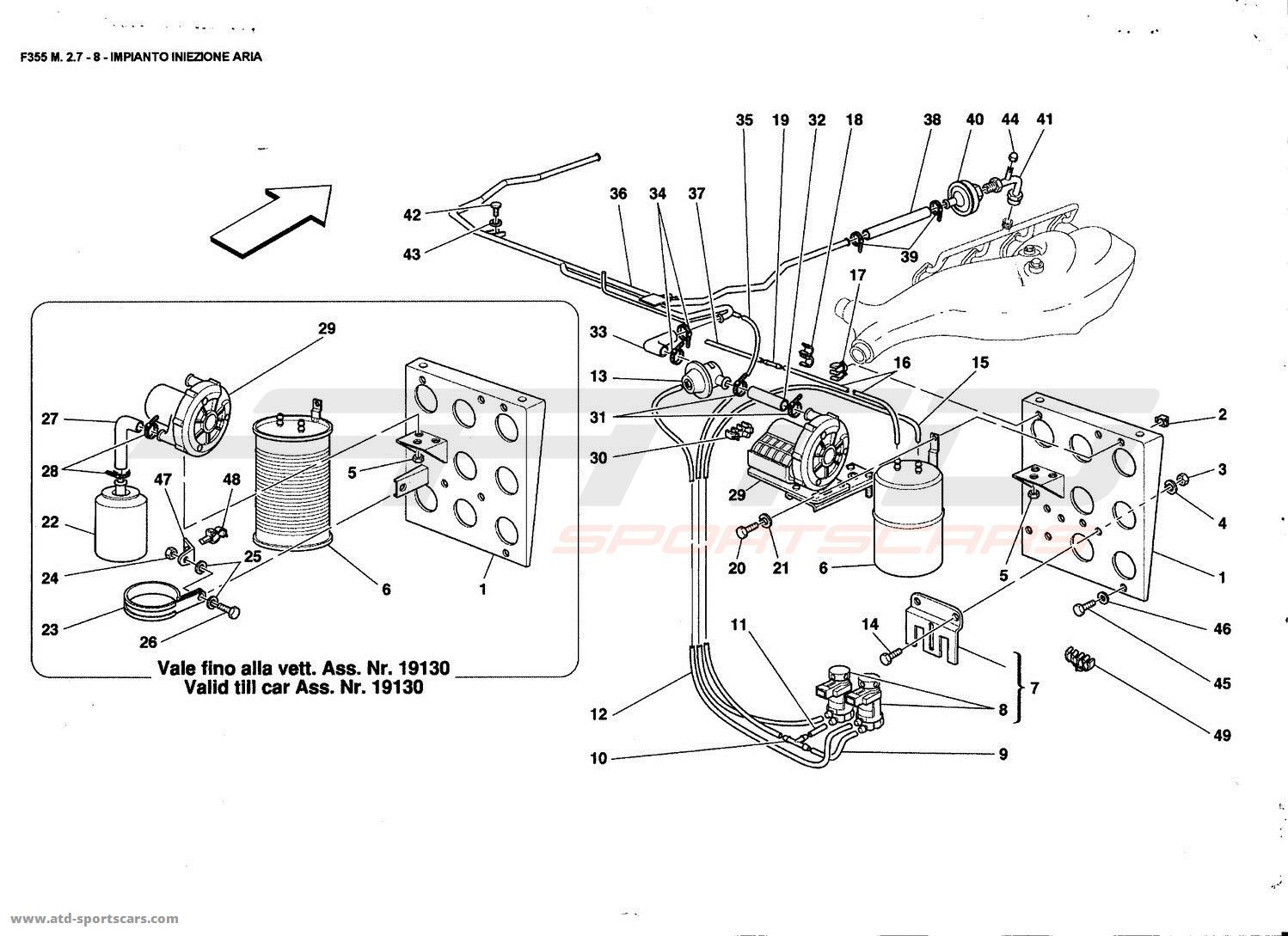 Ferrari F355 2-7 AIR INJECTION DEVICE parts at ATD