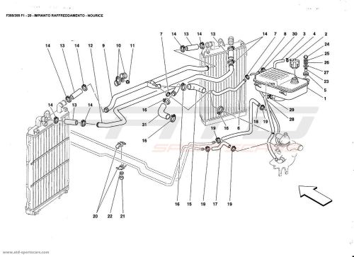 small resolution of  ferrari f355 5 2 et f1 cooling system nourice ferrari f355 5 2 f1 cooling air