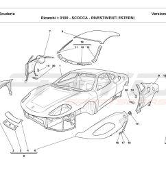 ferrari parts diagram electrical wiring diagram ferrari california parts diagram ferrari f430 scuderia body outer trims [ 1500 x 1089 Pixel ]