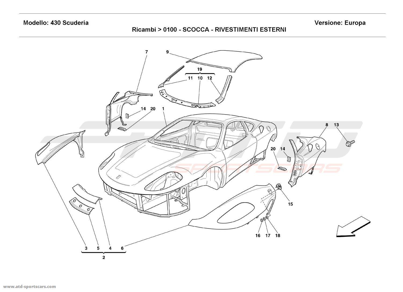 hight resolution of ferrari parts diagram electrical wiring diagram ferrari california parts diagram ferrari f430 scuderia body outer trims