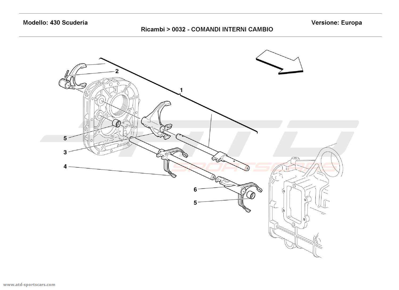 Ferrari F430 Scuderia INSIDE GEARBOX CONTROLS parts at ATD