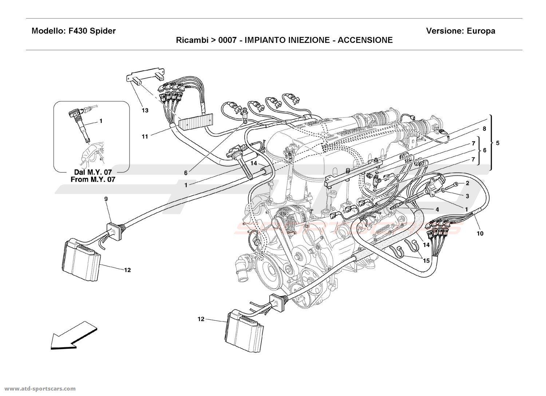 Ferrari F430 Spider Engine Parts At Atd Sportscars