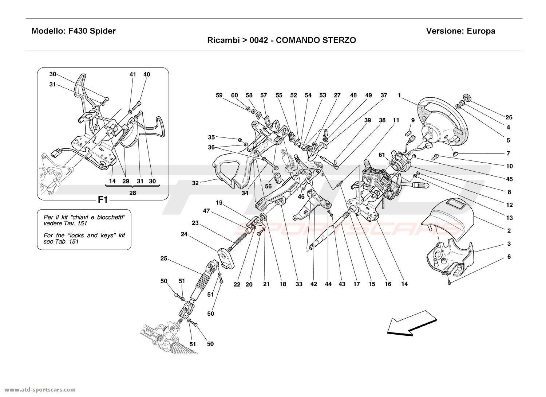 Ferrari F430 Spider Undercarriage parts at ATD-Sportscars
