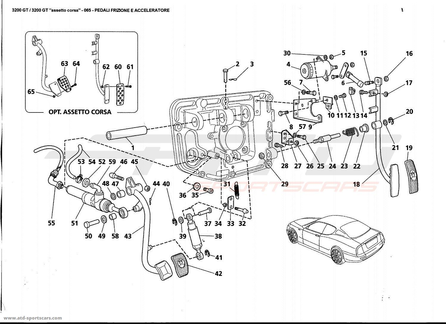 Maserati 3200 GT CLUTCH AND ACCELERATOR PEDALS parts at