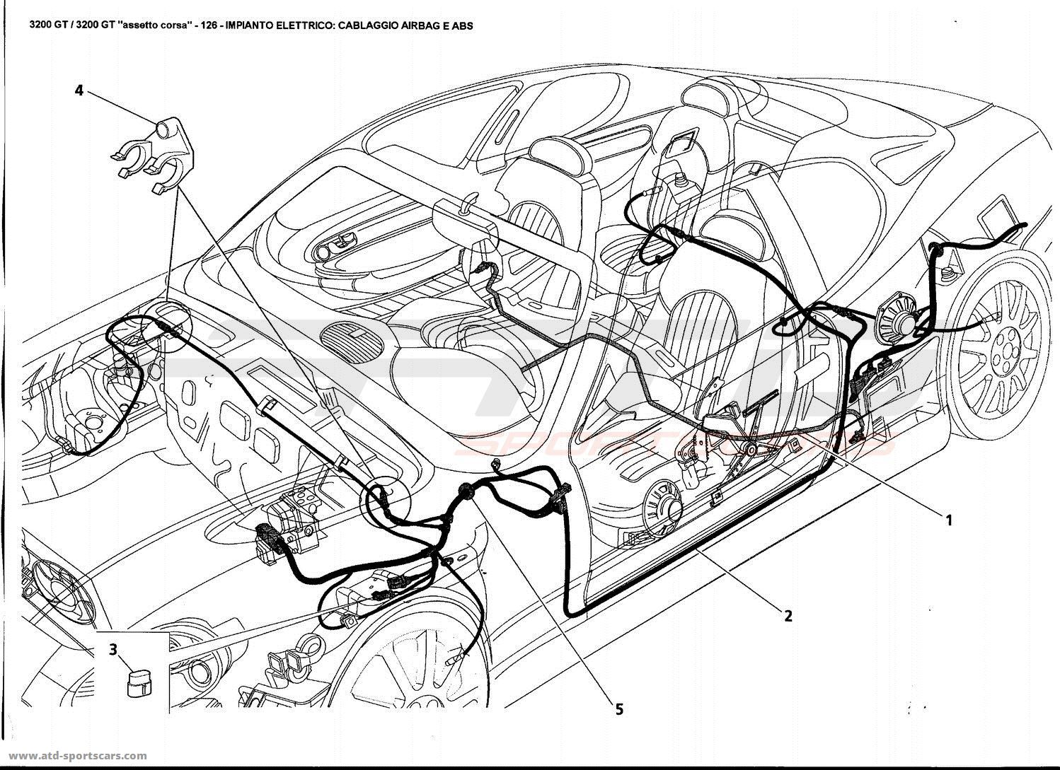 Maserati Gt Electrical System Airbag And Abs Harness