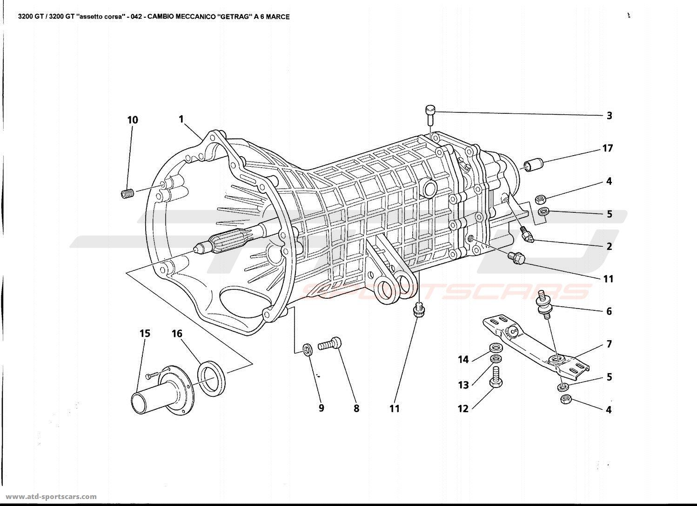 Maserati 3200 GT GETRAG M.T. 6 SPEED parts at ATD