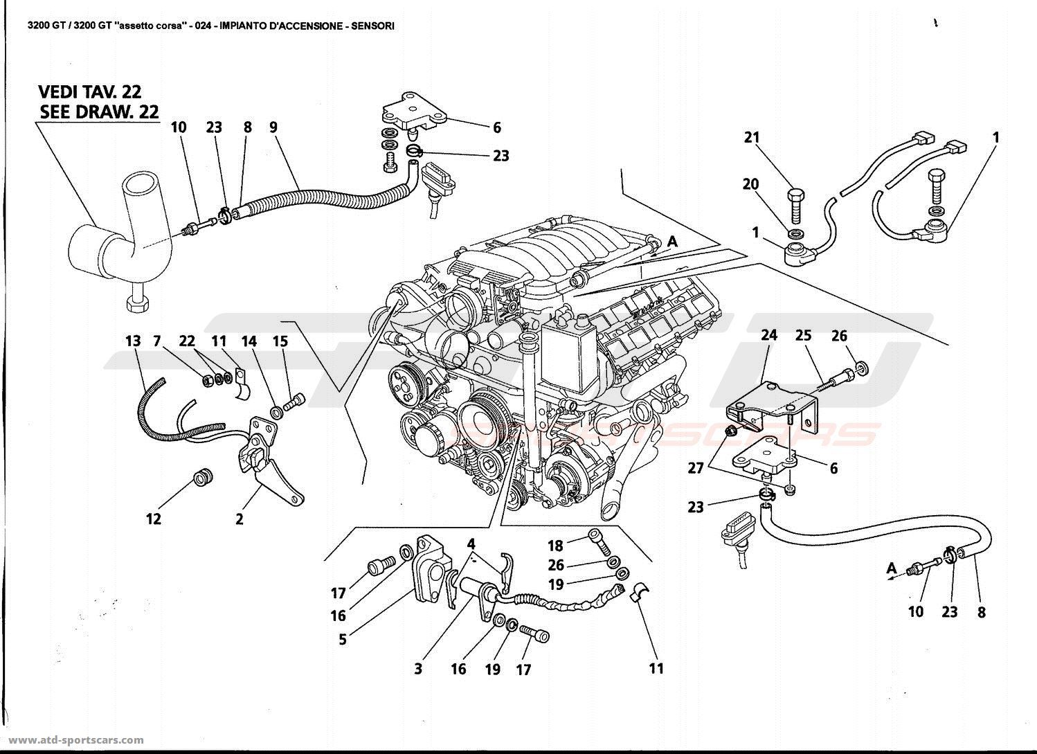 Maserati Gt Ignition System Sensors Parts At Atd Sportscars
