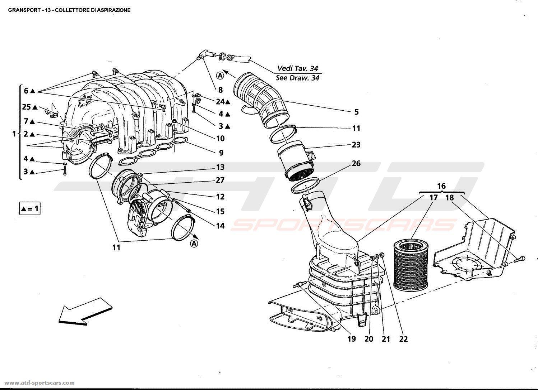 Maserati Gransport Air Intake