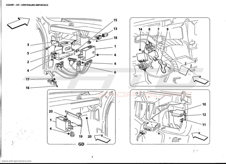 Maserati 4200 GT Coupé 2002 FRONT PASSENGERS COMPARTMENT