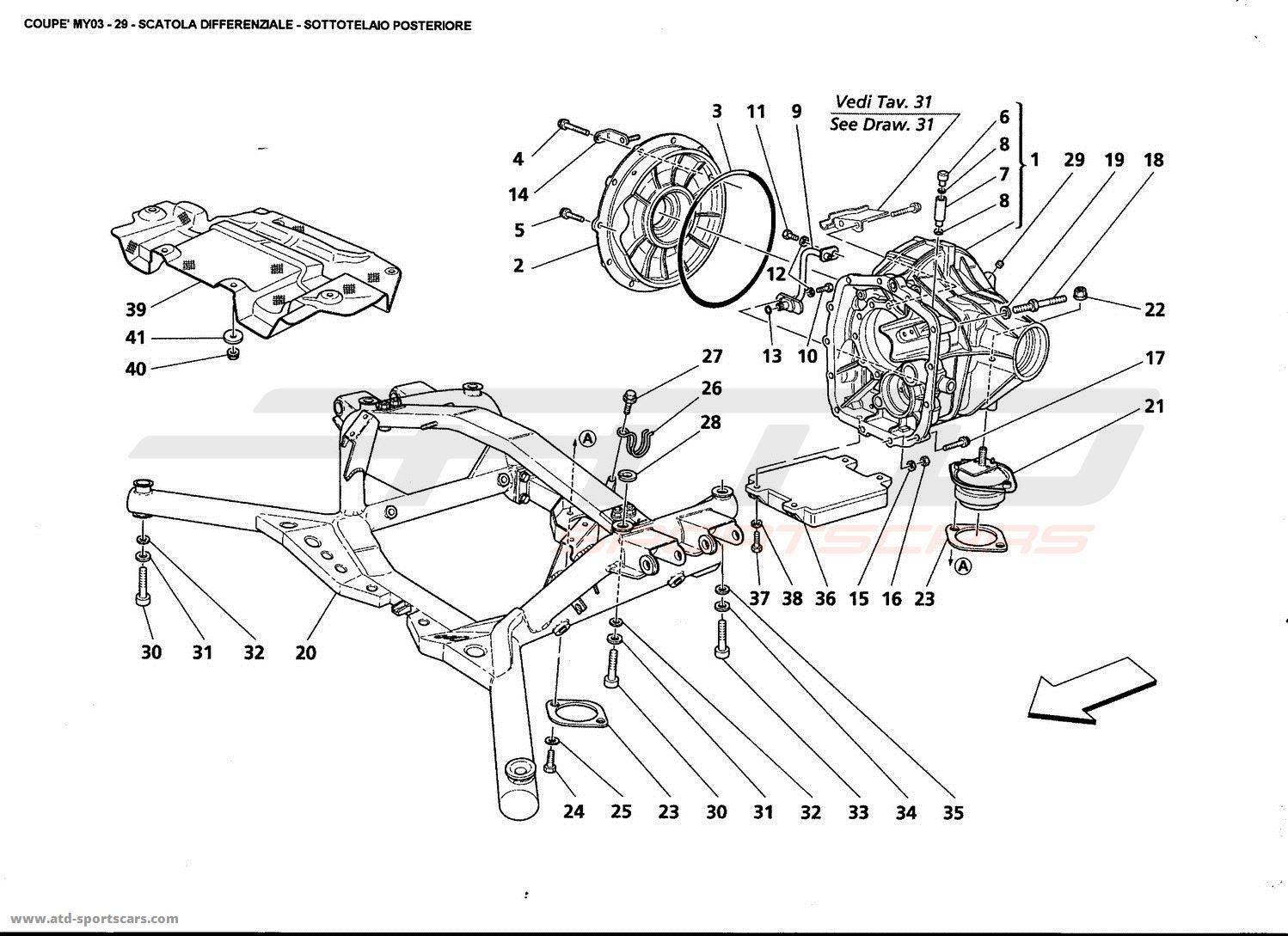 Maserati 4200 GT Coupé 2003 Undercarriage parts at ATD