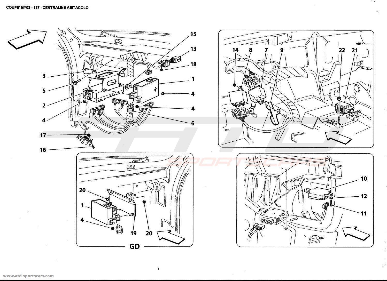 Maserati 4200 GT Coupé 2003 Interior parts at ATD