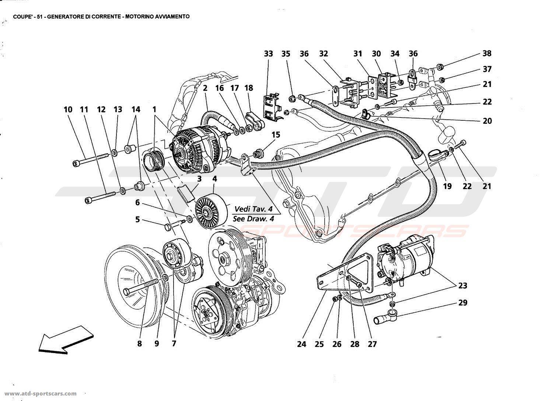 Maserati 4200 GT Coupé 2005 Electrical parts at ATD