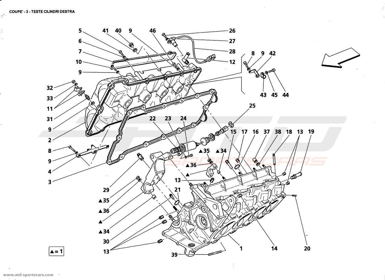 Service manual [Removing Cylinder Head 2005 Maserati