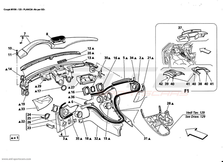 Maserati 4200 GT Coupé 2006 Interior parts at ATD