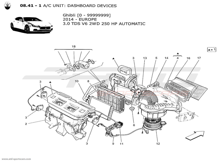 Maserati Ghibli V6 3.0L Diesel Auto 2014 A/C UNIT