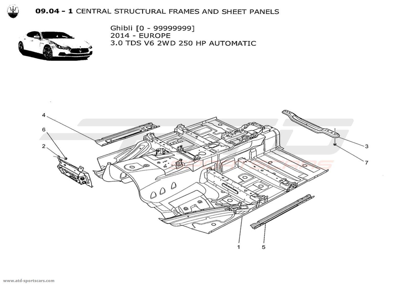 Maserati Ghibli V6 3.0L Diesel Auto 2014 CENTRAL