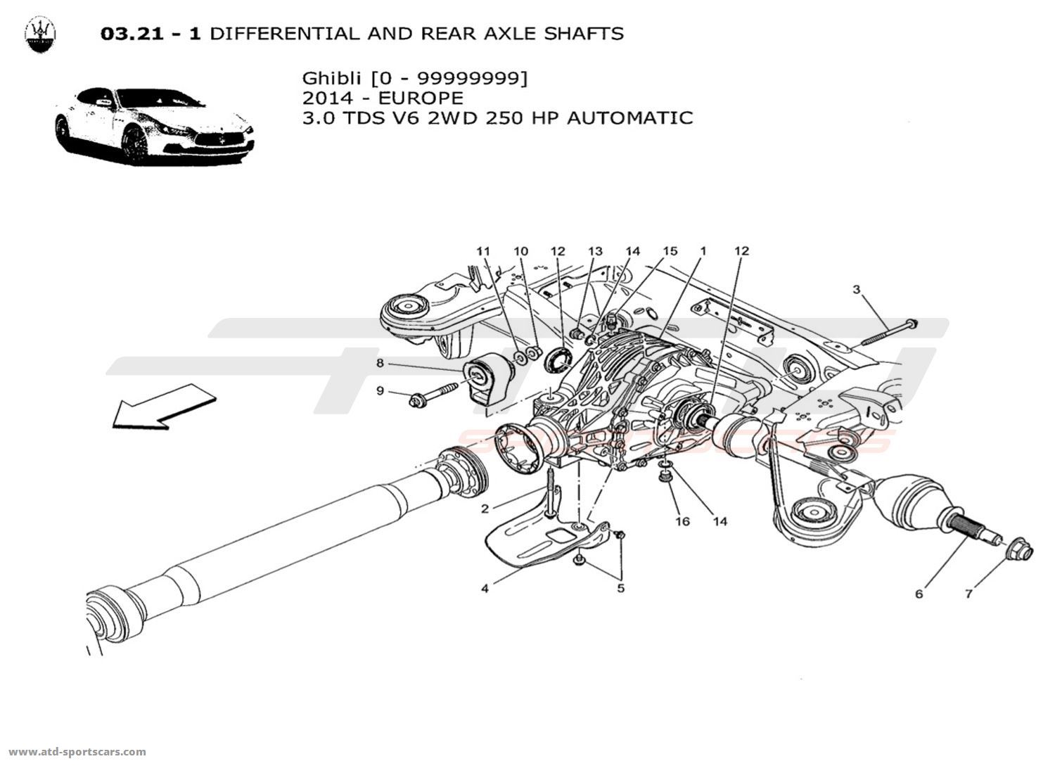 Maserati Ghibli V6 3 0lsel Auto Undercarriage Parts At Atd Sportscars