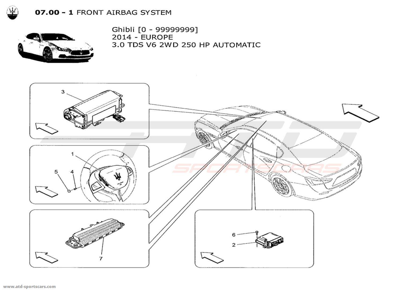 Maserati Ghibli V6 3 0lsel Auto Front Airbag