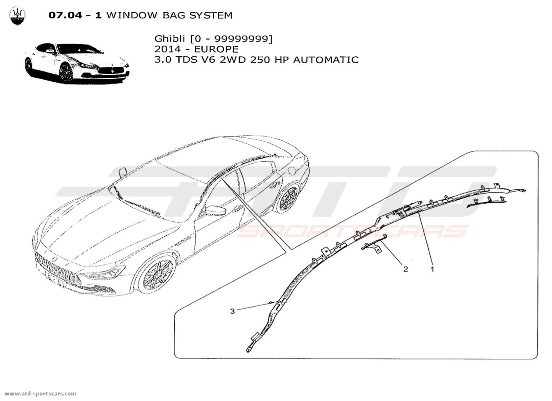 Maserati Ghibli V6 3.0L Diesel Auto 2014 Electrical parts