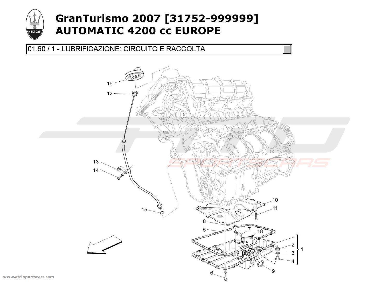 Maserati GranTurismo 4,2L Boite Auto 2007 LUBRICATION