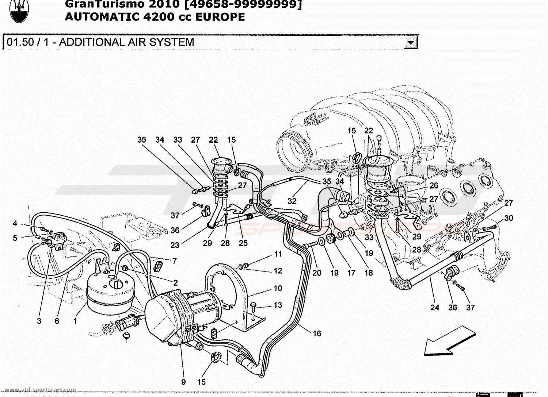 Maserati GranTurismo 4.2L Boite Auto 2010 ADDITIONAL AIR