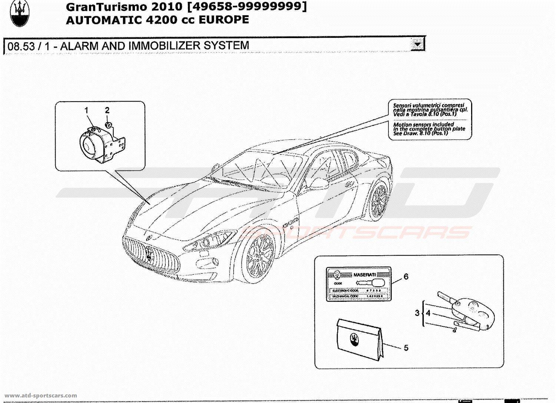 Maserati GranTurismo 4.2L Boite Auto 2010 ALARM AND