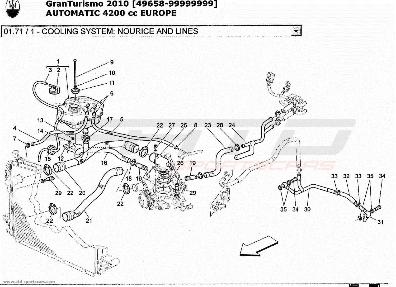 Maserati GranTurismo 4.2L Boite Auto 2010 COOLING SYSTEM