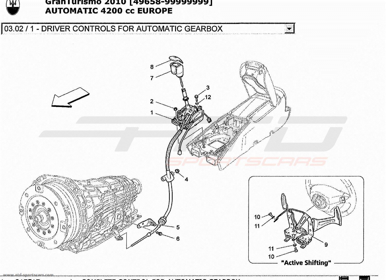 Maserati GranTurismo 4.2L Boite Auto 2010 DRIVER CONTROLS