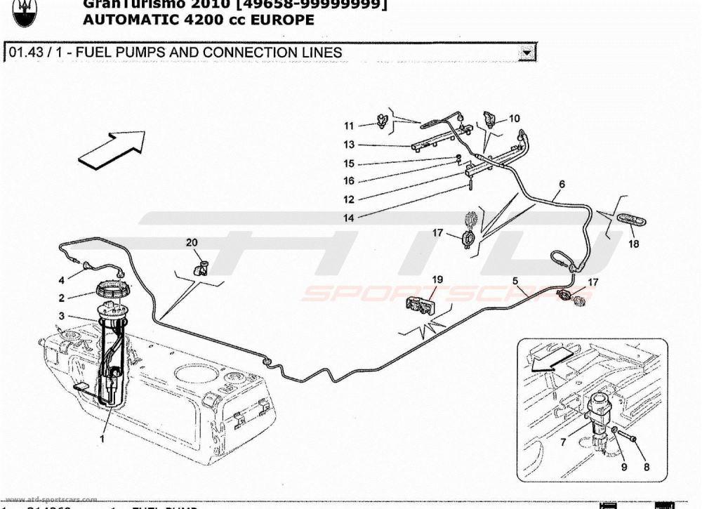 medium resolution of maserati granturismo 4 2l boite auto 2010 fuel pumps and connection maserati granturismo white wiring diagram