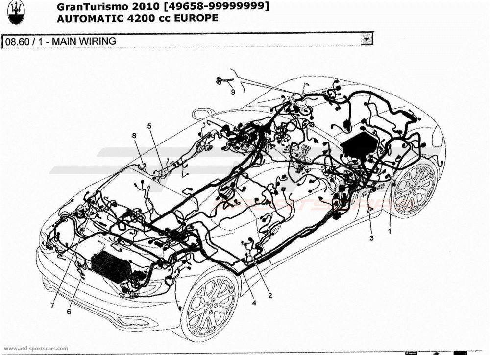 medium resolution of maserati granturismo 4 2l boite auto 2010 main wiring