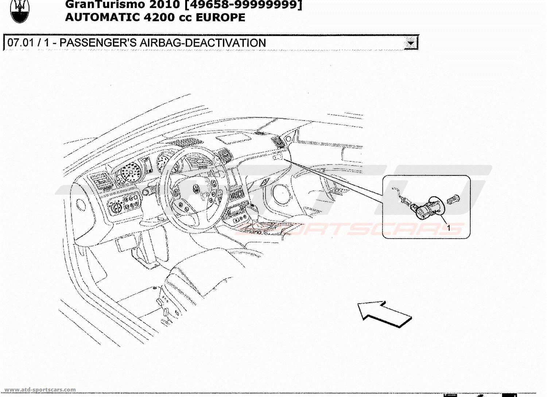 Maserati GranTurismo 4.2L Boite Auto 2010 PASSENGER'S AI