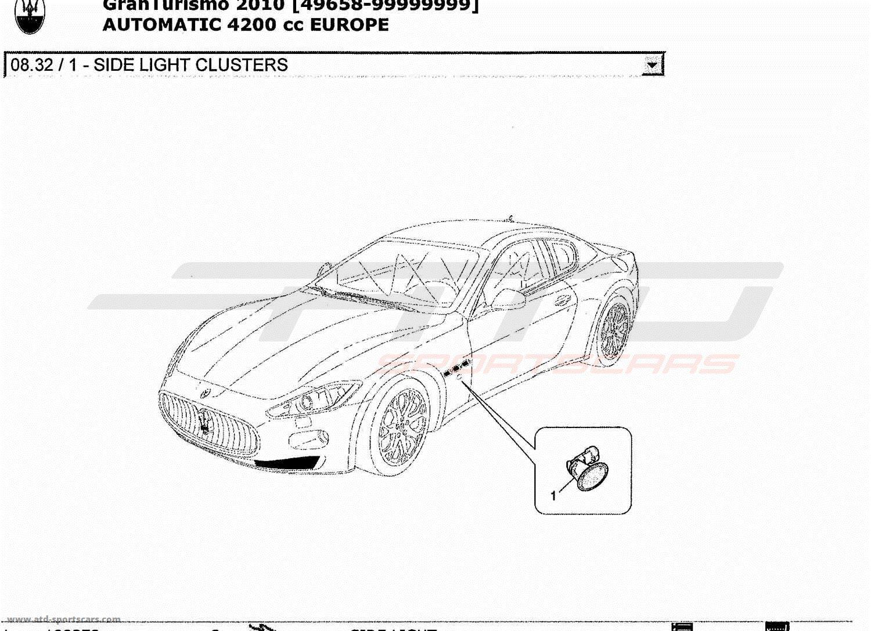 Maserati GranTurismo 4.2L Boite Auto 2010 SIDE LIGHT