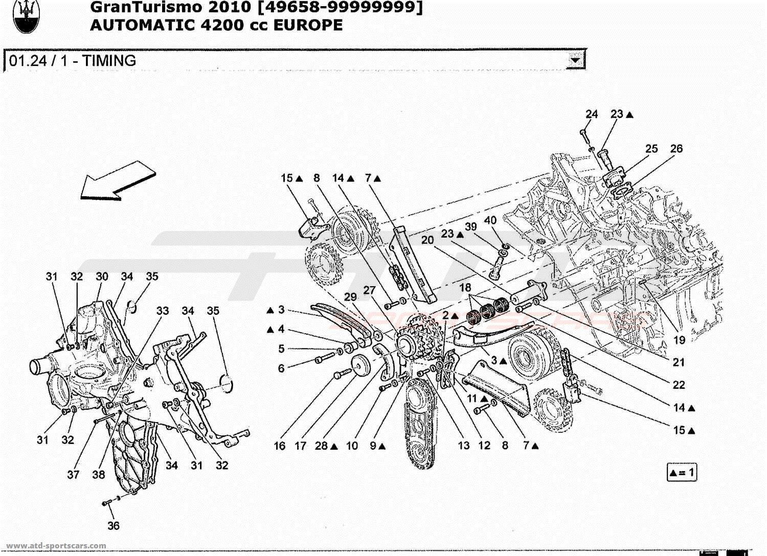 Service manual [2010 Maserati Granturismo Timing Belt