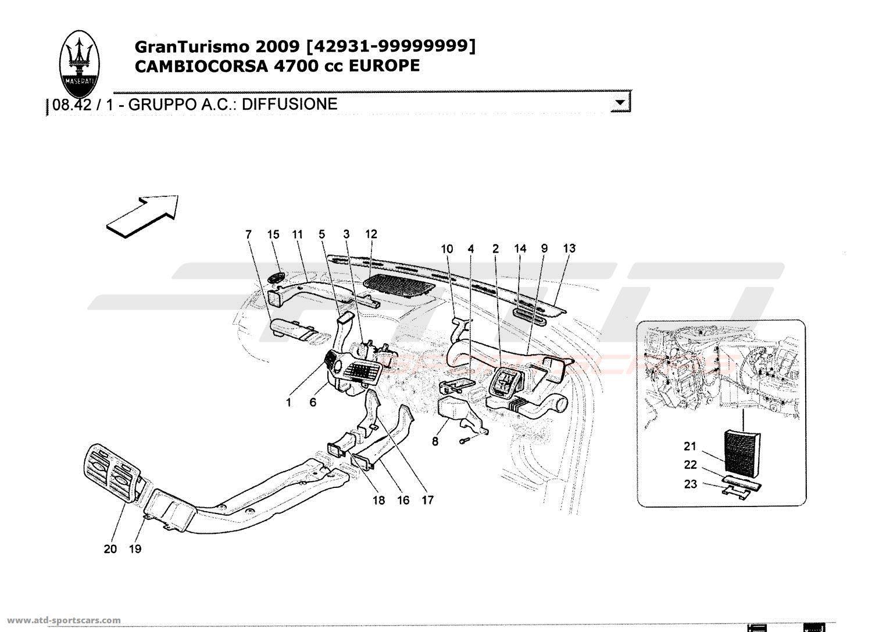 Maserati GranTurismo 4,7L Boite F1 2009 A/C UNIT