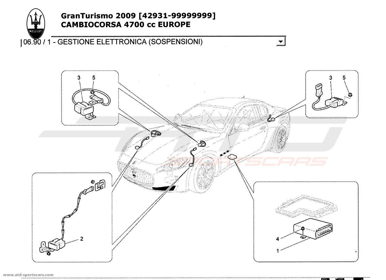 Maserati GranTurismo 4,7L Boite F1 2009 ELECTRONIC CONTROL