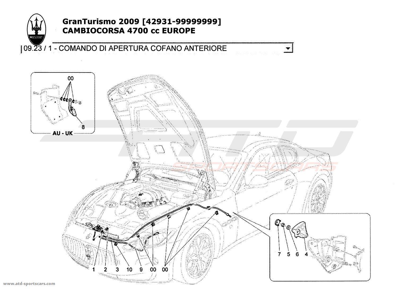 Maserati GranTurismo 4,7L Boite F1 2009 FRONT LID OPENING